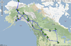 Here's the full path for the trip.  Duration: 28 days Distance: 10,473 miles (+180 miles on a wrecker)